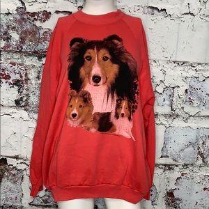 Vintage border collie sweatshirt women's XL